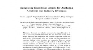 Integrating Knowledge Graphs for Analysing Academia and Industry Dynamics