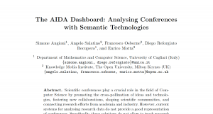 The AIDA Dashboard: Analysing Conferences with Semantic Technologies