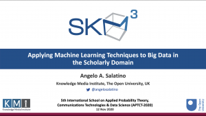 Applying Machine Learning Techniques to Big Data in the Scholarly Domain