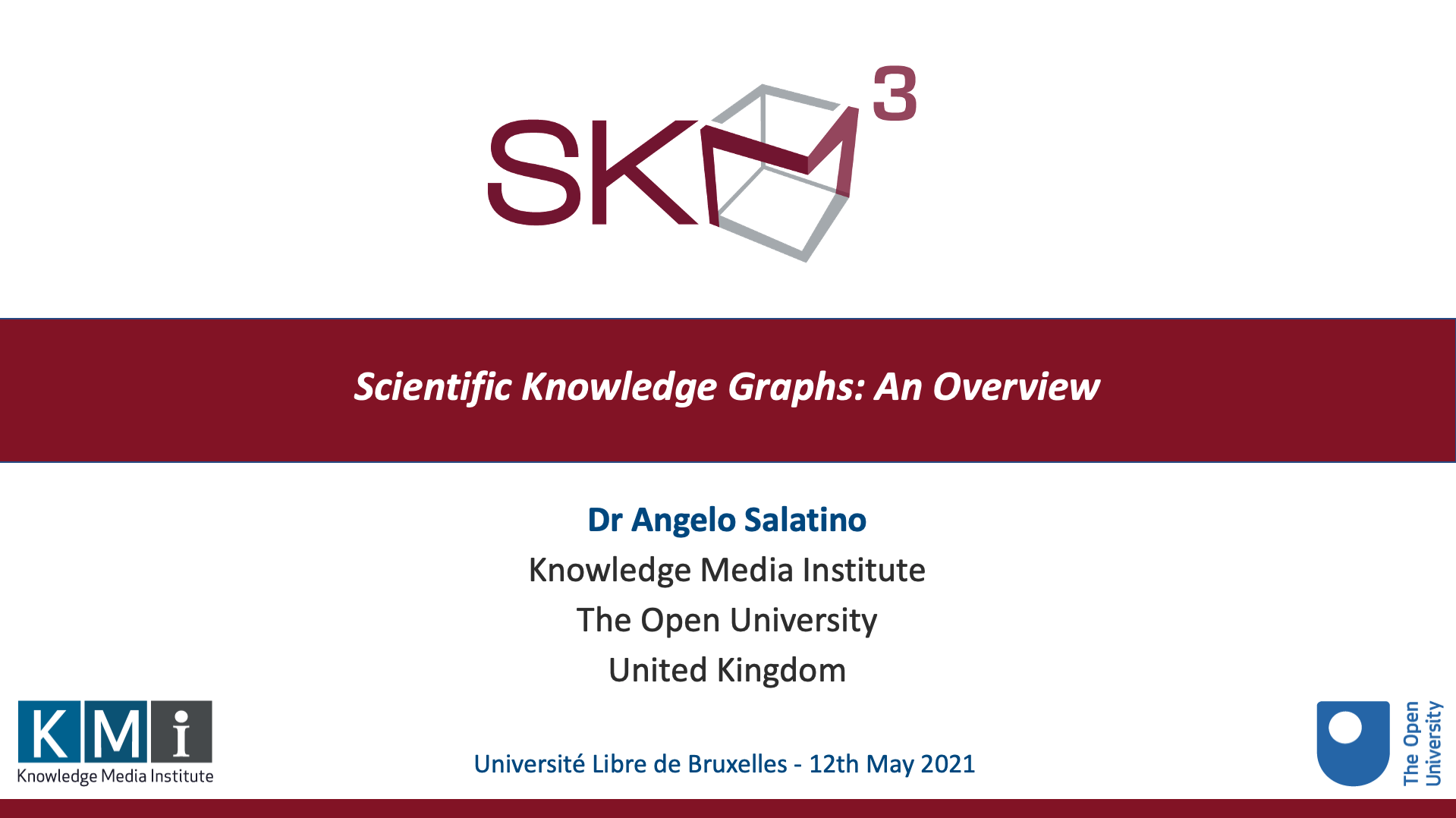 Project - Scientific Knowledge Graphs: an Overview