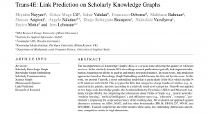 Trans4E: Link Prediction on Scholarly Knowledge Graphs